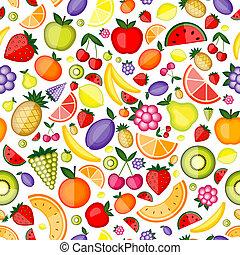 tuo, disegno configurazione, seamless, frutte