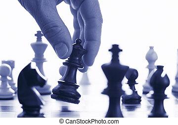 tuo, fare, gioco, spostare, scacchi