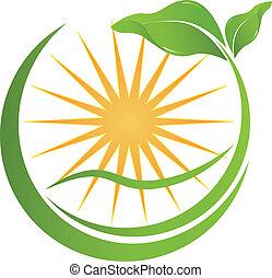 tuo, salute, logotipo, natura, ditta