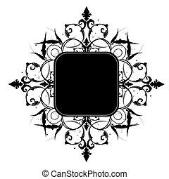 tuo, vettore, spazio, editable, decorativo, cornice, o, testo, image.