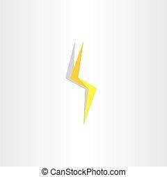tuono, lampo, giallo, illuminazione, bullone, icona
