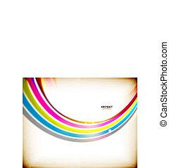 turbine, arcobaleno, astratto, colorito, fondo