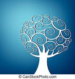 turbine, astratto, albero, fondo