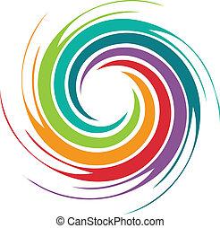 turbine, astratto, immagine, colorito