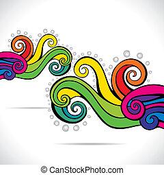 turbine, colorito, fondo, astratto