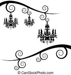 turbine, membro, candeliere, albero