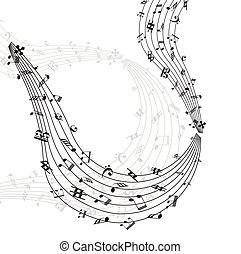 turbine, note, musica