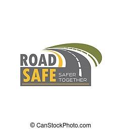 turno, sicurezza, strada, disegno, autostrada, icona