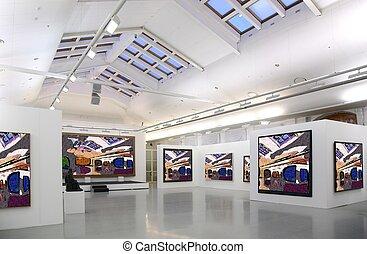 tutto, arte, giusto, immagini, foto, 2., intero, galleria, filtred