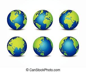 tutto, concetto, intorno, ), (, pianeta, conservazione, mondo, terra, lato