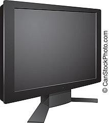 tv, 3d, supporto, bumerang