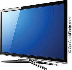tv, lcd, moderno