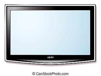 tv, lcd, schermo bianco
