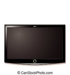 tv, parete, lcd, appendere