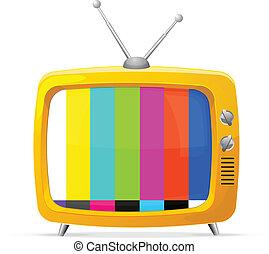 tv, retro, illustrazione