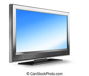 tv, schermo piatto, plasma