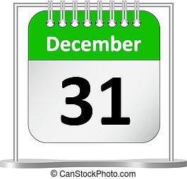 %u2013, dicembre, calendario, 31, st