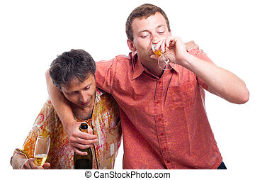 ubriaco, bere, uomini, alcool