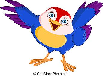 uccello, indicare