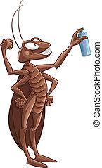 uccisione, scarafaggio, mosca