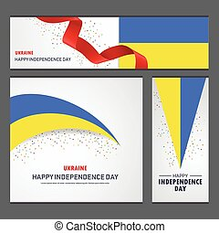 ucraina, set, fondo, bandiera, giorno, indipendenza, felice