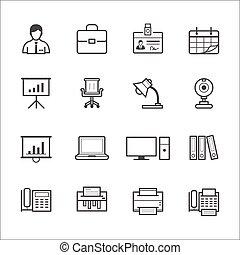 ufficio affari, icone