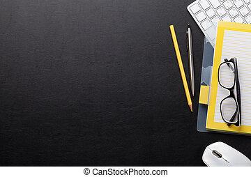 ufficio, computer, provviste, scrivania