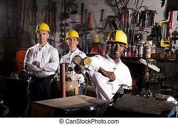 ufficio, manutenzione, colleghi, zona