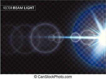 ufo, luce, isolato, illustrazione, trave, vettore, fondo., trasparente