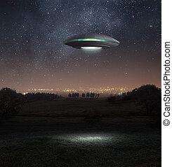 ufo, notte