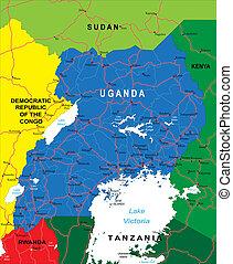 uganda, mappa
