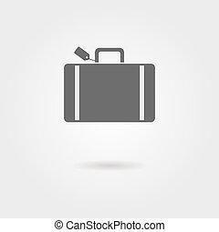 uggia, bagaglio, icona