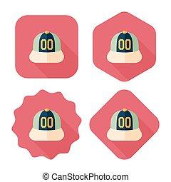 uggia, protezione baseball, icona, eps10, appartamento, lungo
