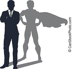 uggia, uomo affari, superhero