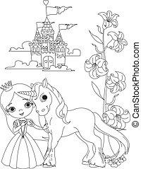 unicorno, colomba, principessa, bello