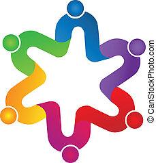 unione, lavoro squadra, peoplelogo