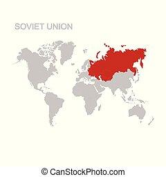 unione, mappa, soviet