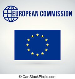 unione, moderno, isolato, illustrazione, comissions, bandiera, vettore, fondo, shadow., europeo