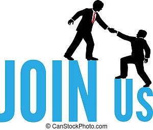 unire, aiuto, persone affari, su, squadra