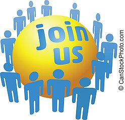 unire, ditta, persone, gruppo, sociale