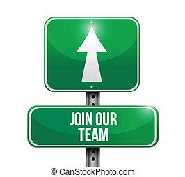 unire, illustrazione, segno, disegno, squadra, nostro, strada