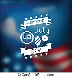 unito, card., augurio, stati, america, giorno, indipendenza