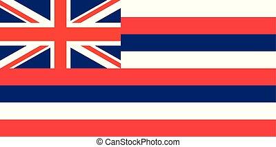 unito, hawai, state., stati, bandiera, vettore, america