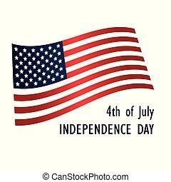 unito, illustrazione, stati, america., vettore, giorno, indipendenza