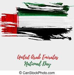 unito, nazionale, arabo, emirati, fondo, giorno