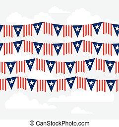 unito, pattern., seamless, stati, america, giorno, indipendenza