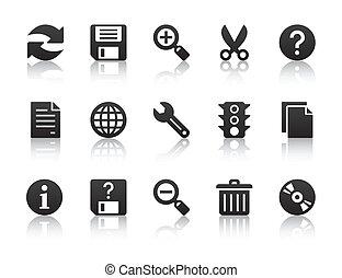 universale, software, icone