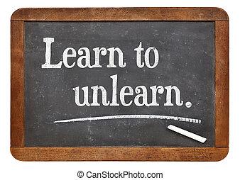 unlearn, imparare