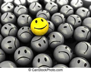 uno, faccia felice