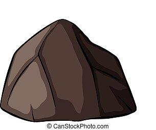 uno, grigio, roccia